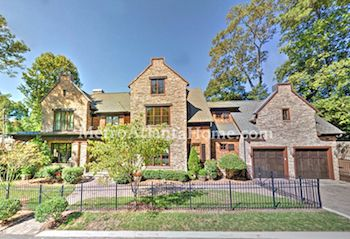 A mansion for sale in the Peachtree Heights neighborhood.