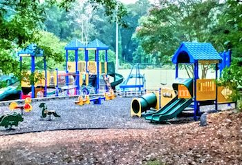 The neighborhood park and playground in Peachtree Hills.