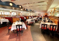 Large dining room at Pricci Italian restaurant in Buckhead.
