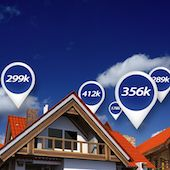 Homes with price bubbles show market values.