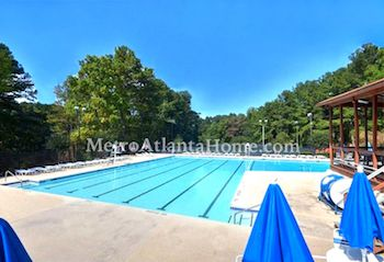 The neighborhood pool and amenities at Rivermist.