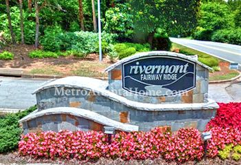 The Rivermont neighborhood entry sign.