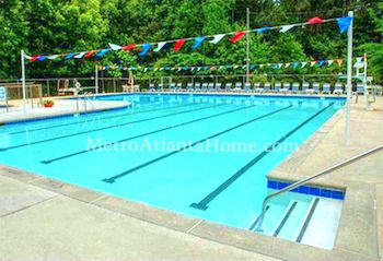 The lap pool at Springside At Neely in Peachtree Corners, GA.