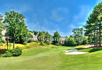 The golf course at St Ives Country Club in Johns Creek, GA.