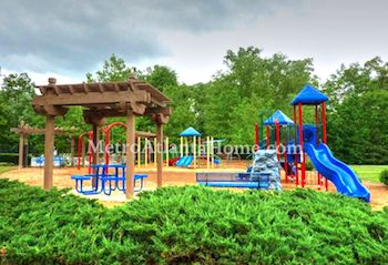 The playground and HOA amenities at Sugar Mill.