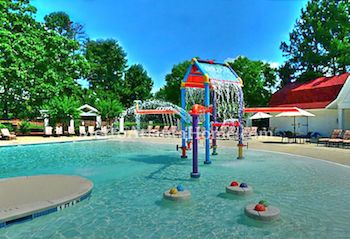 The pool and neighborhood amenities at Sugarloaf Country Club.