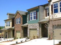 New Metro Atlanta Townhome community with multiple floor plans and exterior siding options.