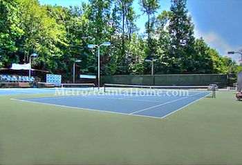 The neighborhood tennis courts at Waterford in Dunwoody.