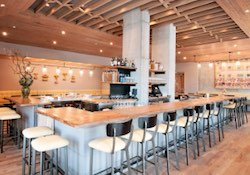 Dining room and bar area at Watershed on Peachtree in Buckhead.