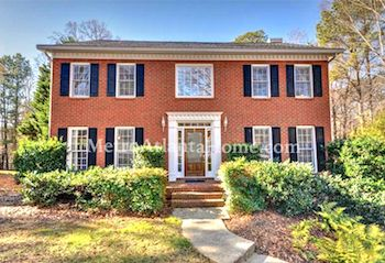 A Colonial style home for sale in Roswell's Westchester neighborhood.