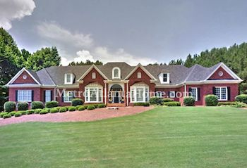 A luxury home for sale in the White Columns subdivision.