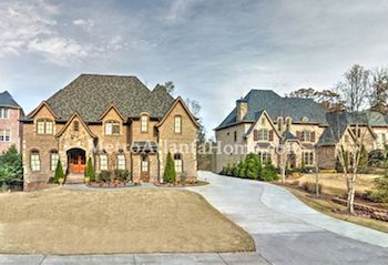 Luxury mansions in the Windsor Park neighborhood.