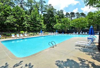The neighborhood pool and amenities at Wyntree in Peachtree Corners, GA.