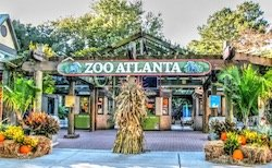 The Zoo Atlanta entrance at Historic Grant Park.