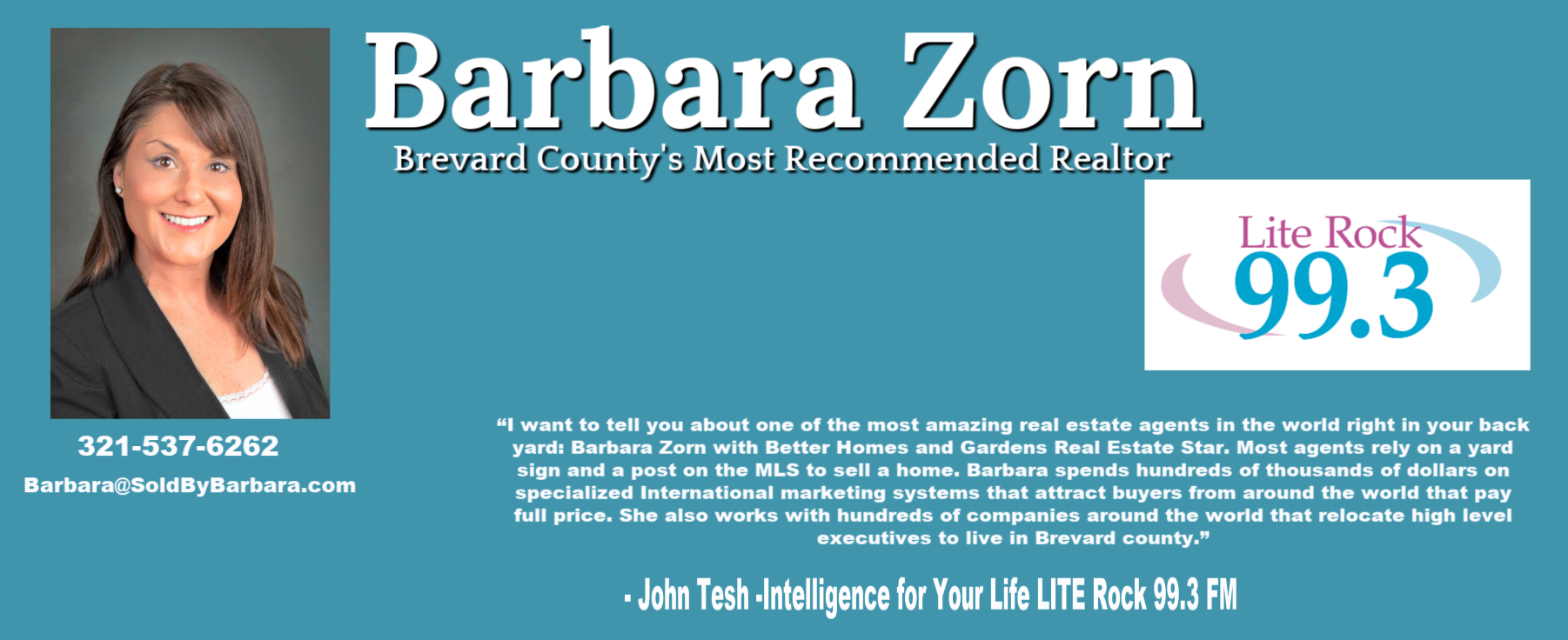 Barbara Zorn - John Tesh's Real Estate Agent