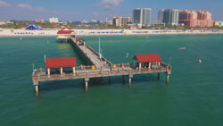 Aerial View of Pier 60 On Clearwater Beach