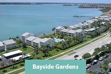 View of Bayside Gardens Condo and Clearwater Harbor