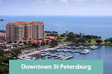 View of Downtown St Petersburg Waterfront Condo