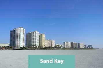 View of Sand Key Condos from the Beach