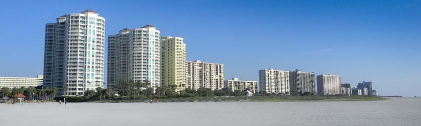 View of Sand Key Condos from Park