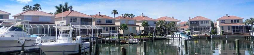 Waterfront View of The Moorings Homes on Sand Key