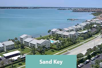 View of Sand Key Waterfront Condo