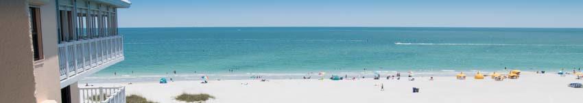 View of St Pete Beach from Beachfront Condo