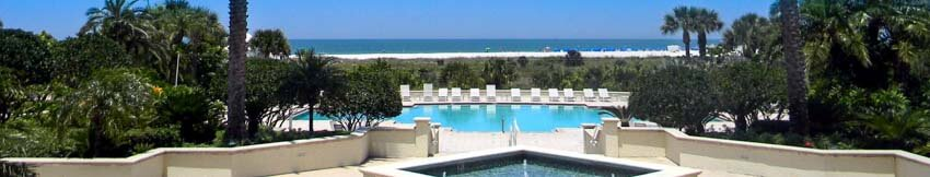 Pool View at The Grande on Sand Key