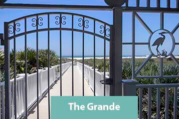 Beach Walkway at The Grande on Sand Key