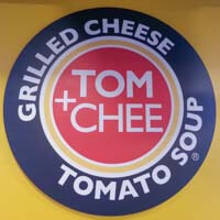 Shot of Wall at Tom & Chee