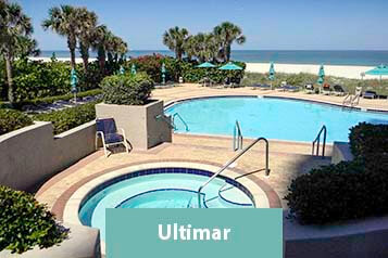 View Of Pool and Beach From Ultimar Condo