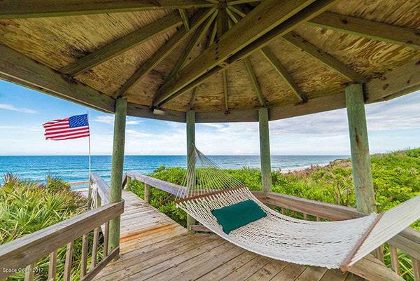 Hammock under a cabana