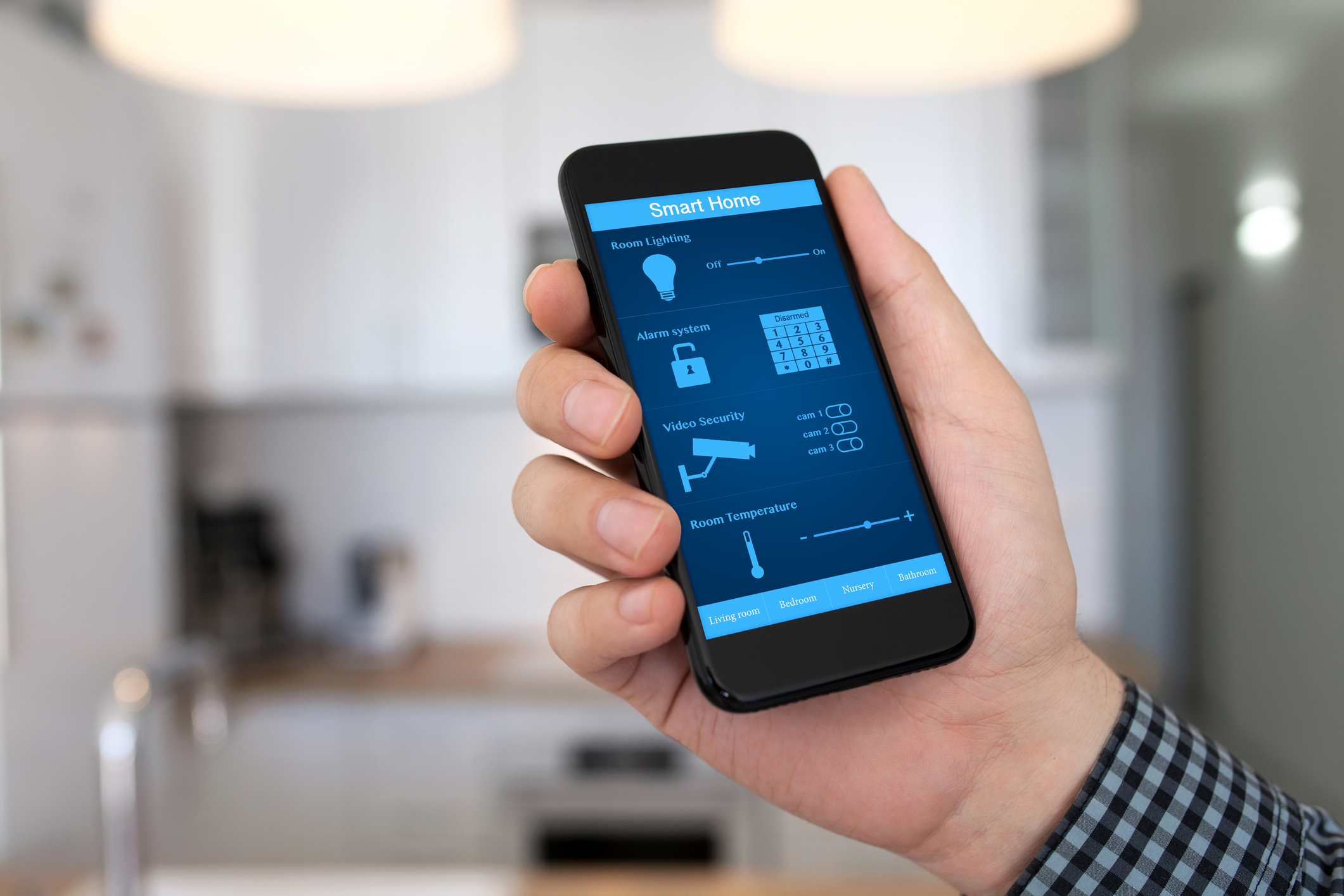 Smart phone smart home networked Coldwell Banker Paradise