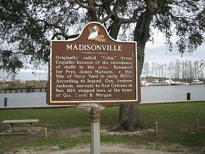 Historic Plaque In Madisonville La
