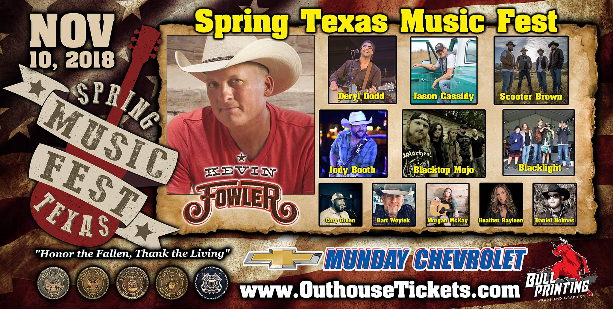 Kevin Fowler, Blacktop Mojo, Scooter Brown, Jason Cassidy, Jody Booth
