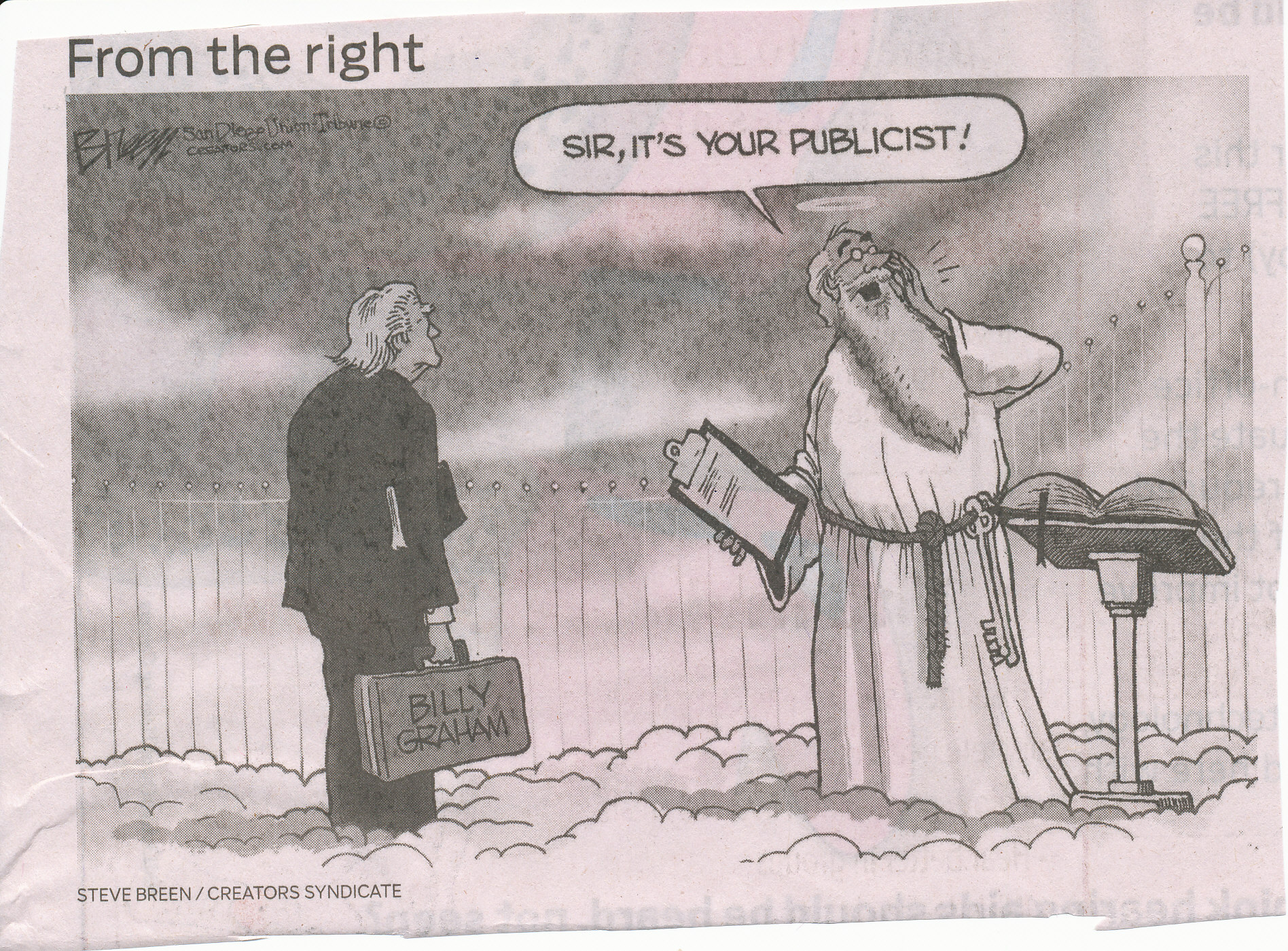 Billy Graham Cartoon (AJC)