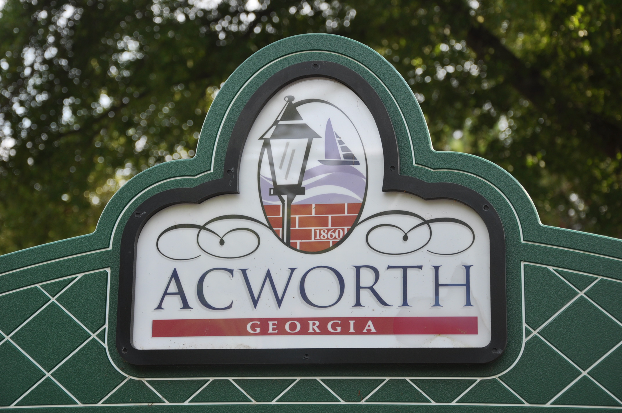 Acworth GA Welcome Sign