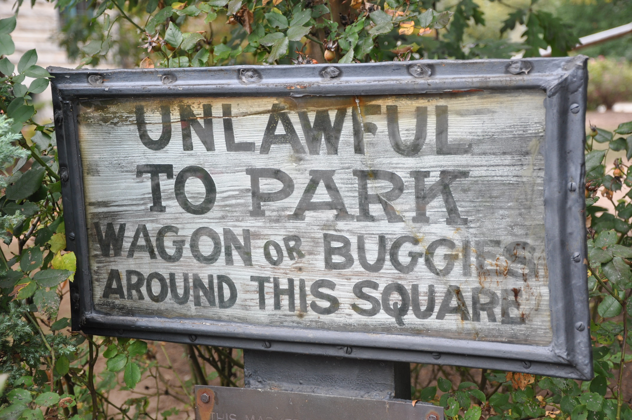 Picture of Buggy Parking Sign on Decatur Square
