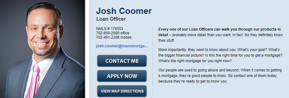 Josh Coomer Senior Loan Officer