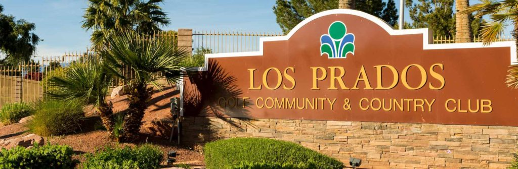 Los Prados Community Front Gate Sign