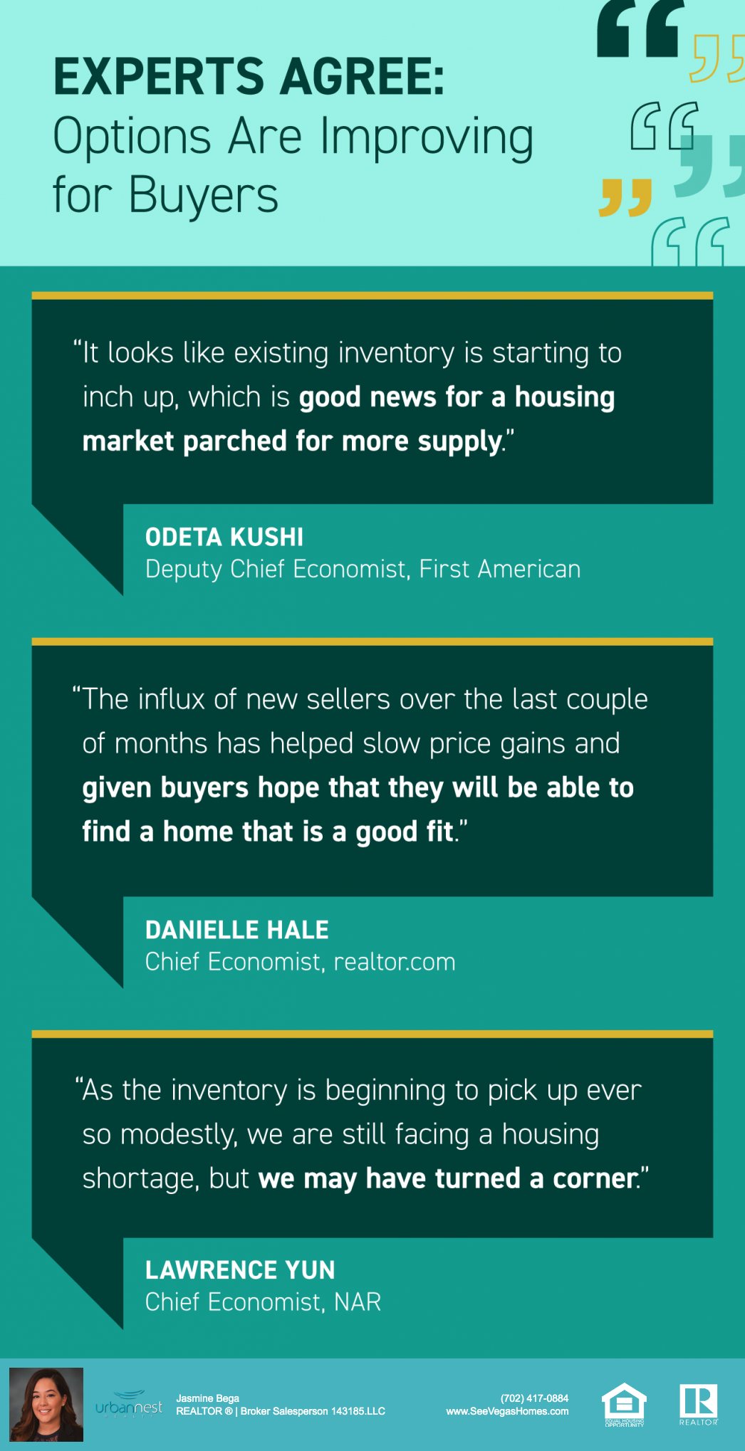 Experts Agree - Options Are Improving for Buyers INFOGRAPHIC - seevegashomes