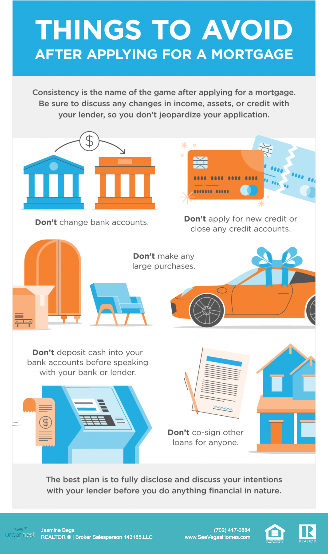 Things to Avoid after Applying for a Mortgage SeeVegasHomes