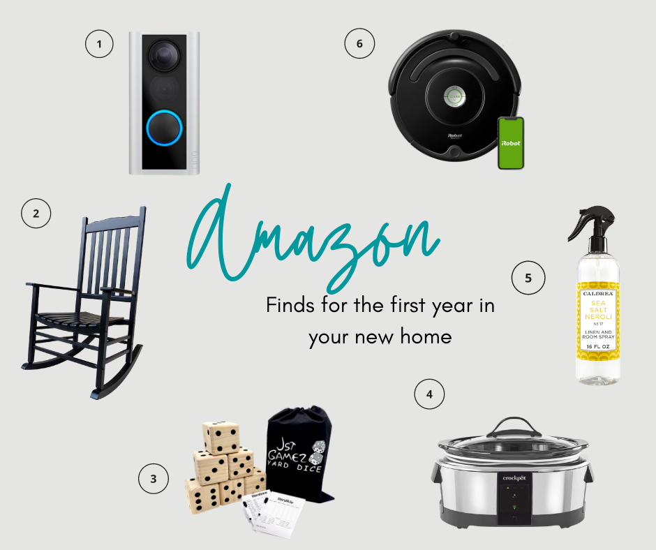 Amazon finds for the first year in your new home!