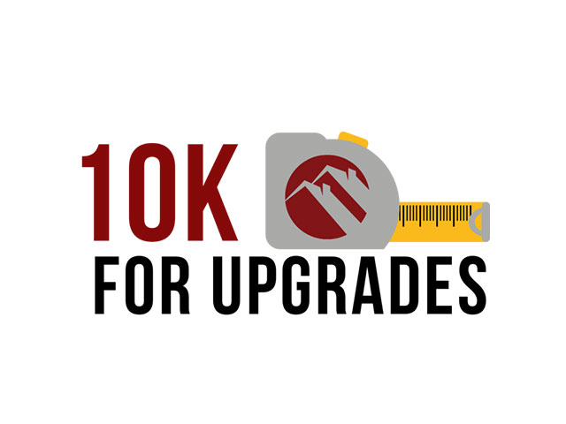 $10,000 available for upgrades