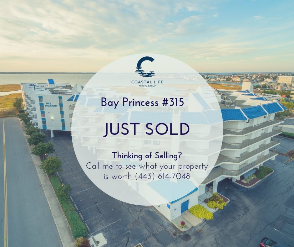 Areial view of Bay Princess in Ocean City MD with a sold bubble