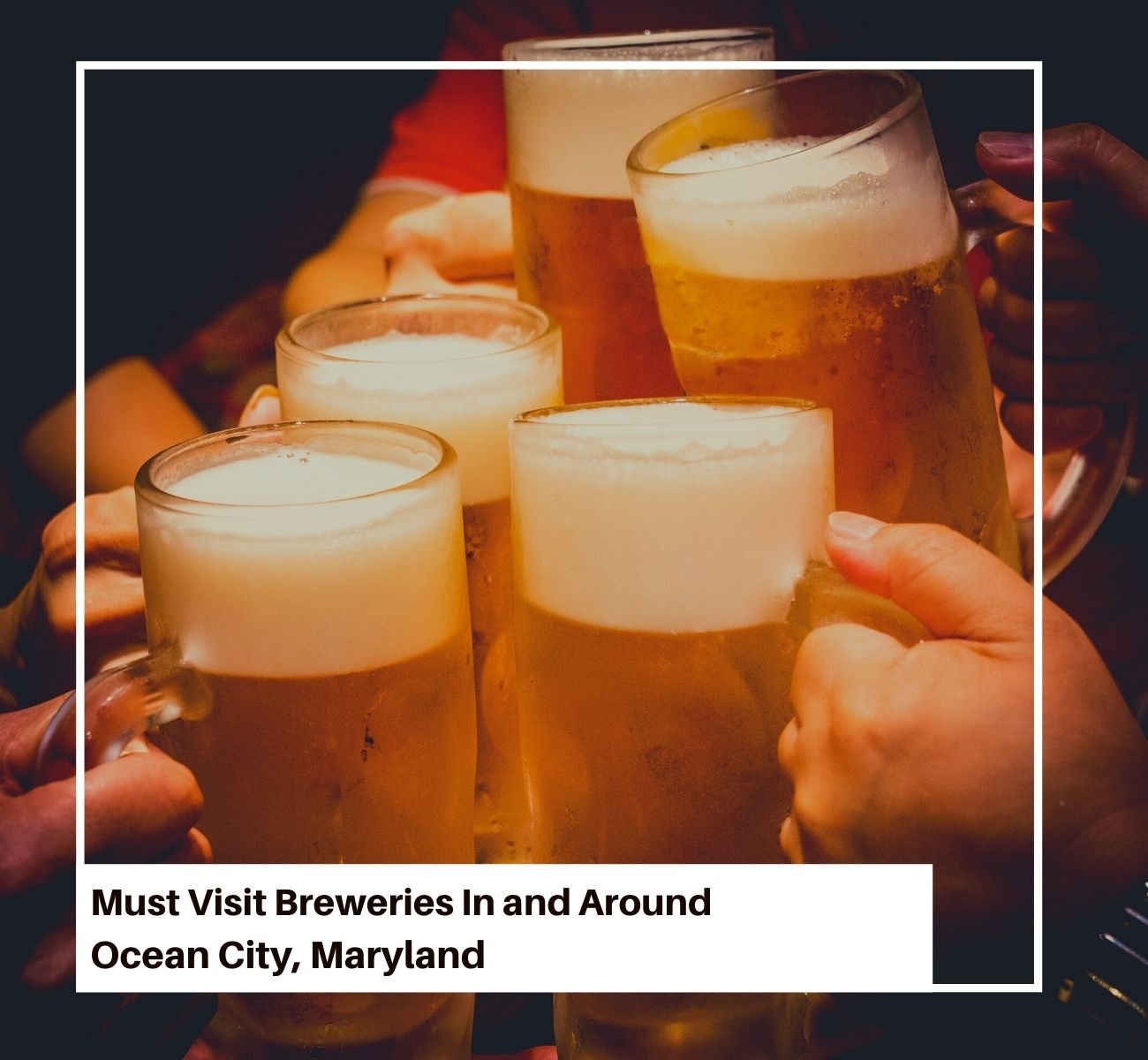 Ocean City Maryland Brewery Friends Cheering