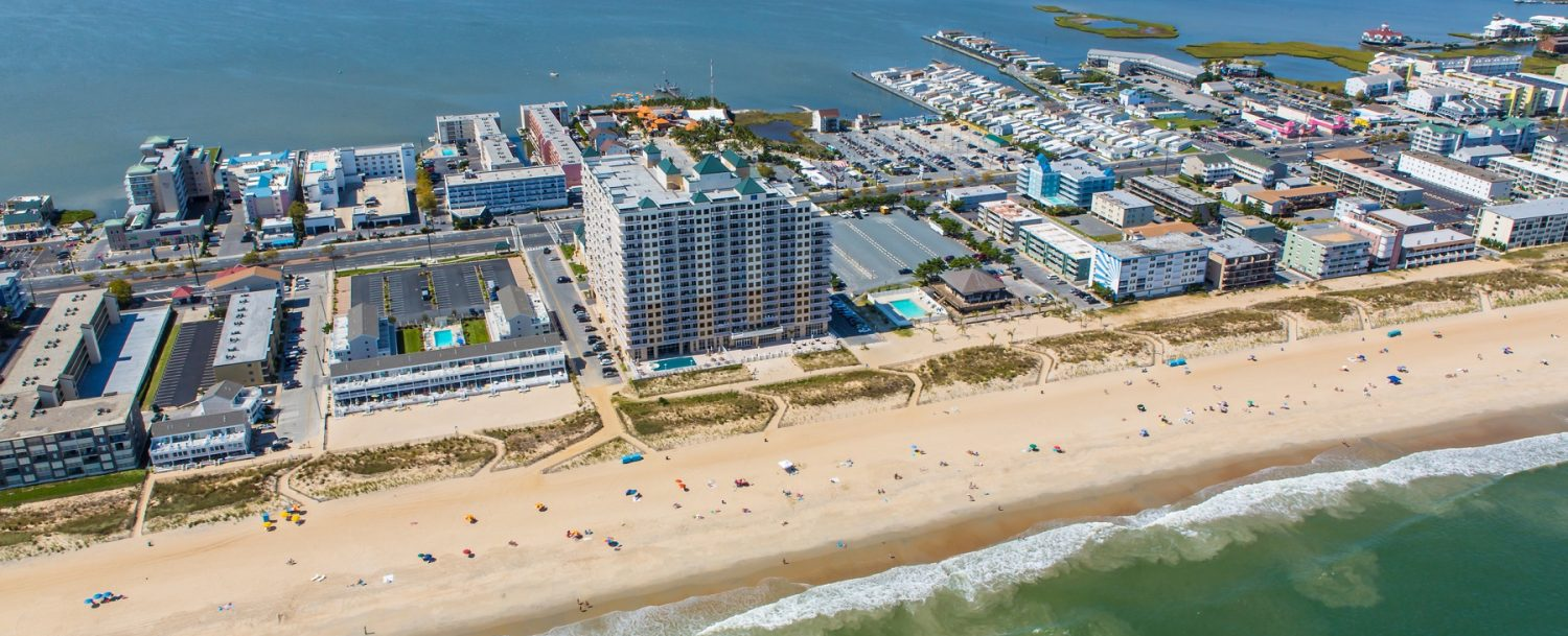 Aerial View of Ocean City MD