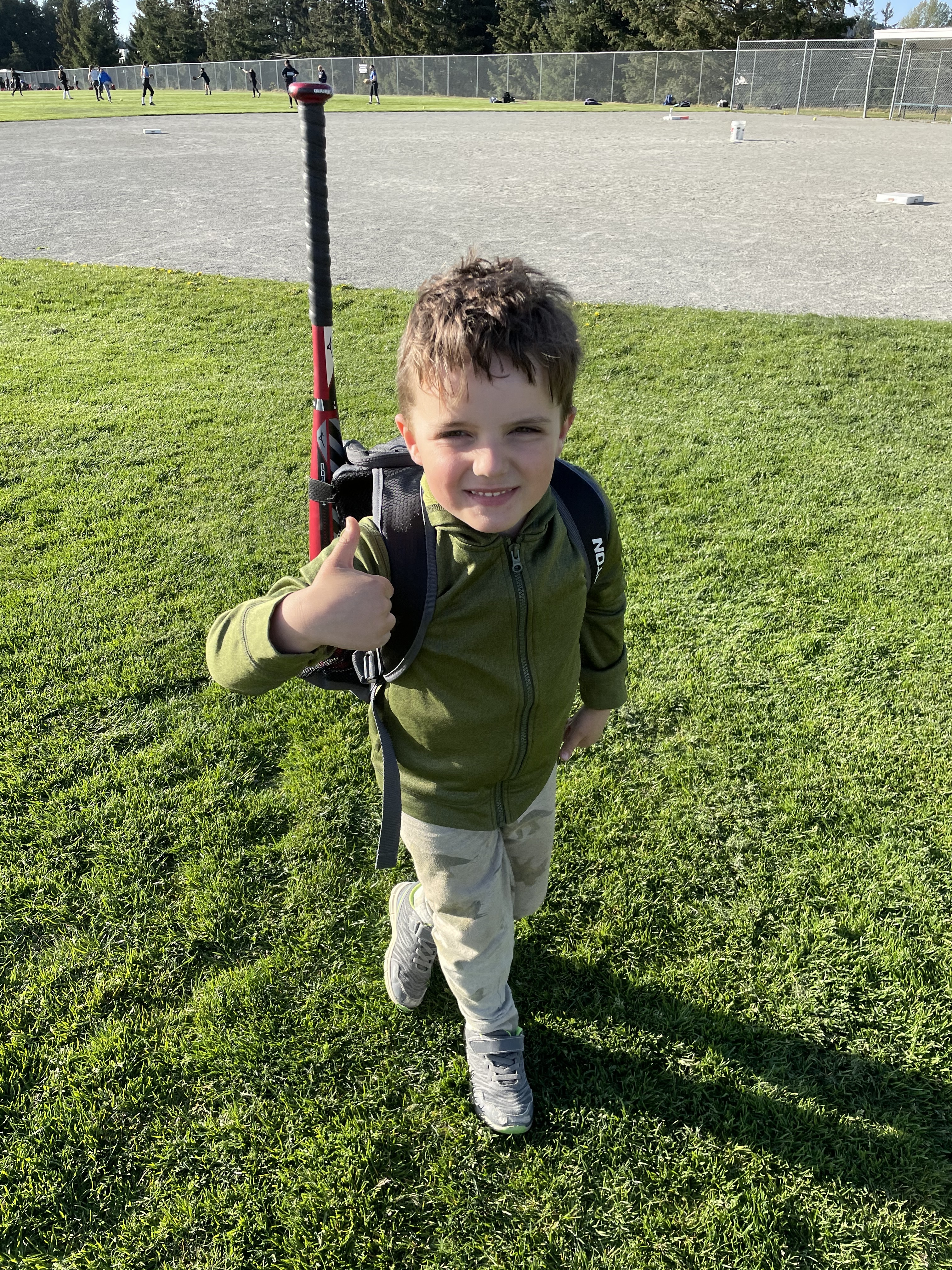 Griffin heading to tee ball practice