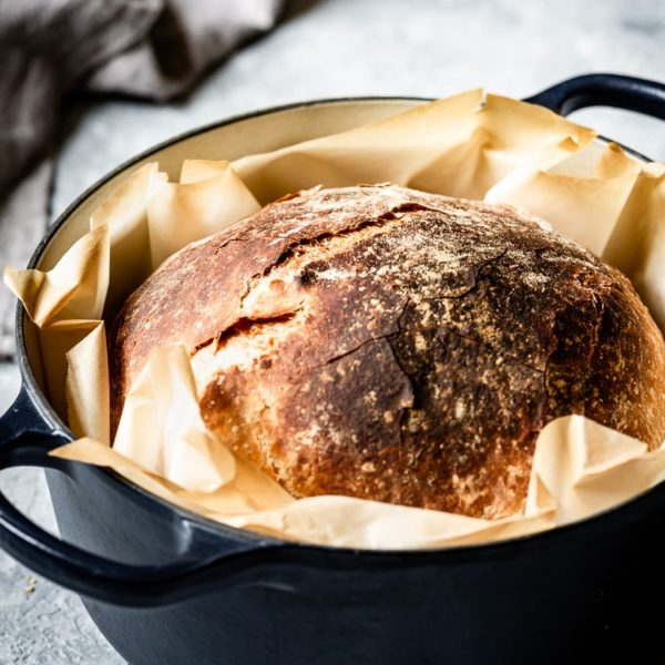 No Knead Artisan Bread Recipe - Foolproofliving.com