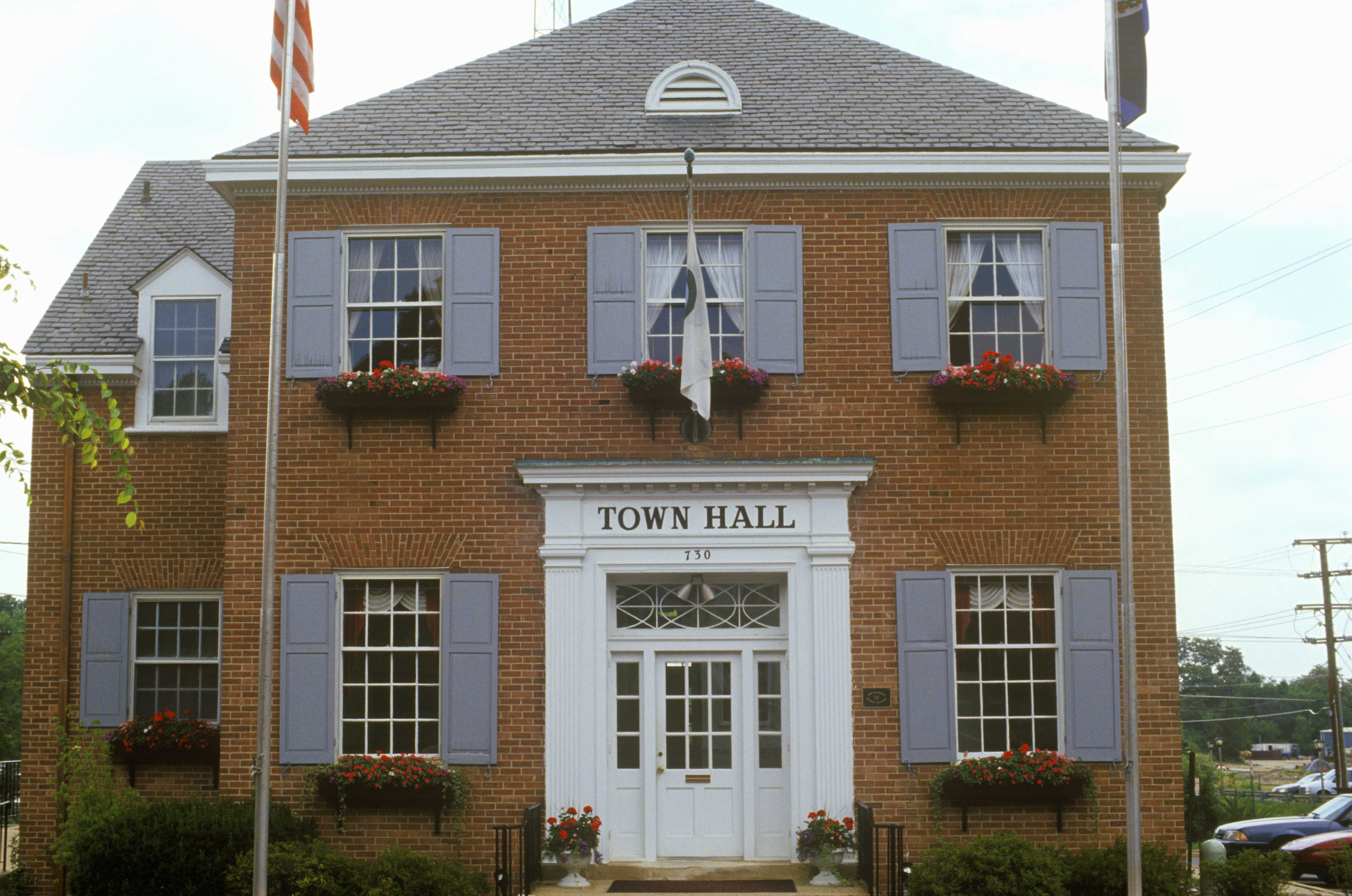 Town Hall Building in Herndon